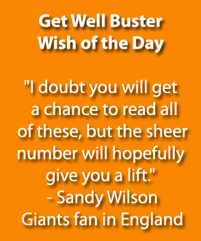 Get Well Buster Wish of the Day